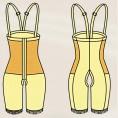 Бандаж компрессионный выше колен с высоким поясом (артикул 301)