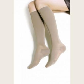Компрессионные чулки до колена с закрытым носком с хлопком (артикул 8111, 8211)