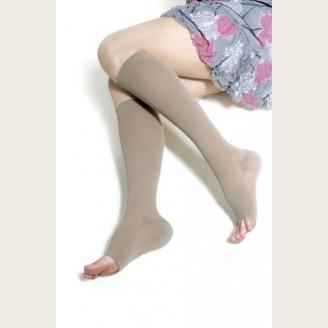 Компрессионные чулки до колена с открытым носком с хлопком (артикул 8110, 8210, 8310)