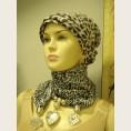 Женский шарф с декоративными элементами - модель 6